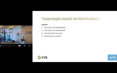 SpringX en CYS geven webinar